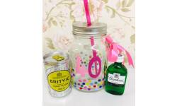 40th Birthday Gin and Tonic Mason jar