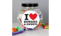 Personalised I Love Sweet Jar