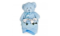 Blue Teddy Bouquet Box