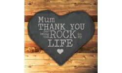Personalised Thank You Slate Heart