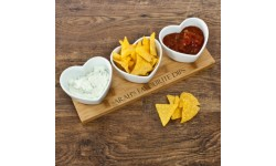 Personalised Heart Dip Bowls