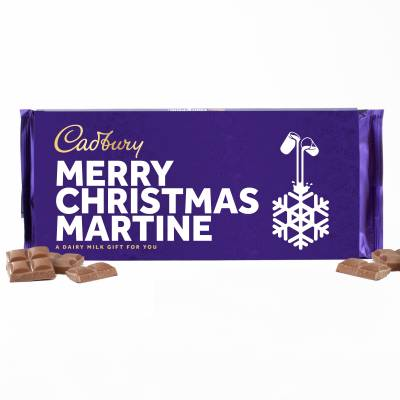 Personalised Christmas Cadbury Dairy Milk 360g