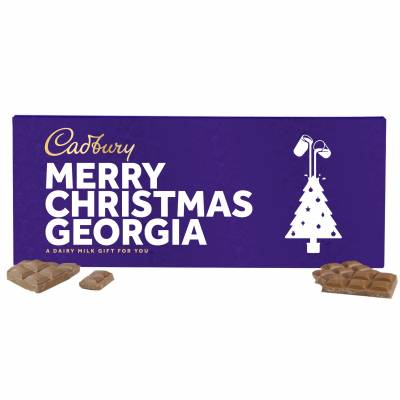 Personalised Cadbury Dairy Milk Christmas Bar 850g