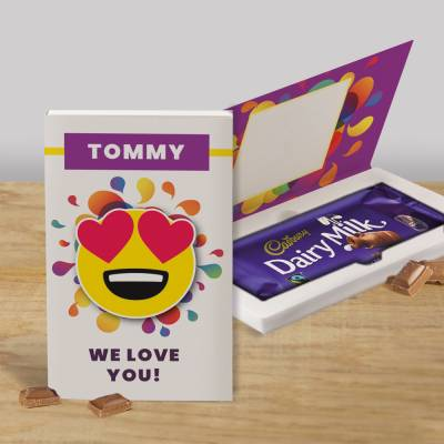 Personalised We Love You Cadbury Chocolate Card