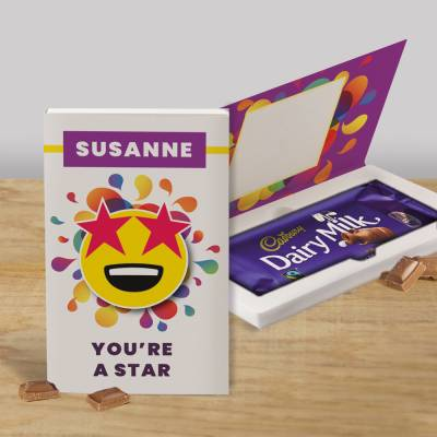 Personalised You're A Star Cadbury Chocolate Card