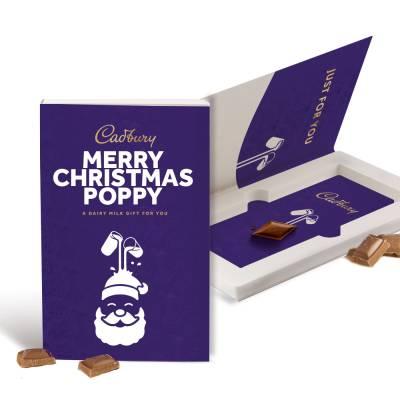 Personalised Cadbury Dairy Milk Christmas Card 110g