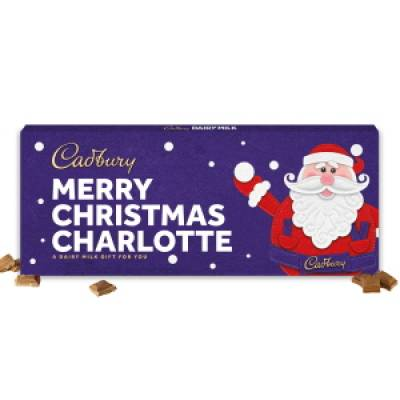 Personalised Cadbury Dairy Milk Santa Bar 850g