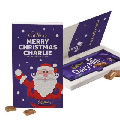 Personalised Cadbury Dairy Milk Christmas Card 200g