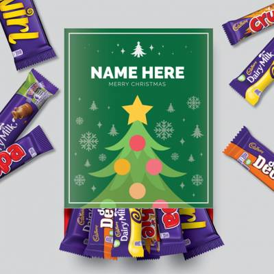 Personalised Christmas Tree Cadbury Favourites Box