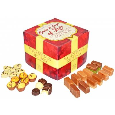 6 Days Of Love Valentines Chocolate And Fudge Gift