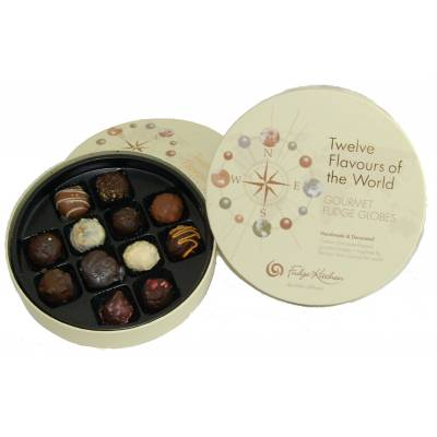 12 Flavours Of The World Gourmet Fudge - Fudge Gifts