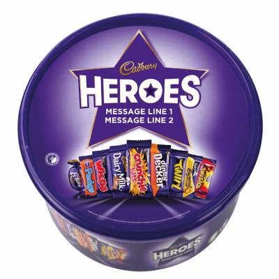 Personalised Cadbury Heroes Tub 580g