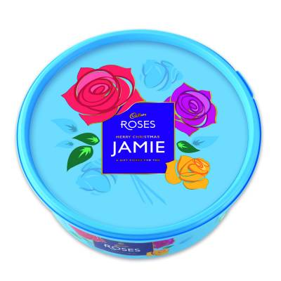 Personalised Cadbury Roses Tub 600g