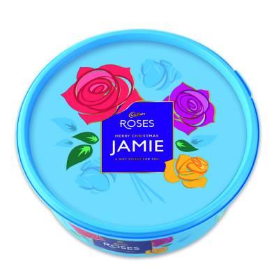 Personalised Cadbury Roses Tub 600g
