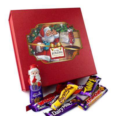 Personalised Classic Christmas Eve Chocolate Box