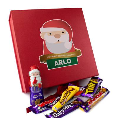 Personalised Santa Christmas Eve Chocolate Box