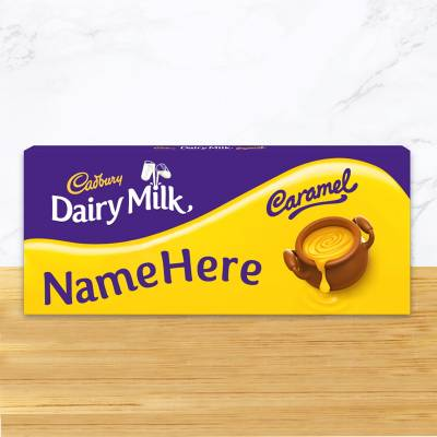 Personalised Cadbury Dairy Milk Caramel 1.2kg Share Pack