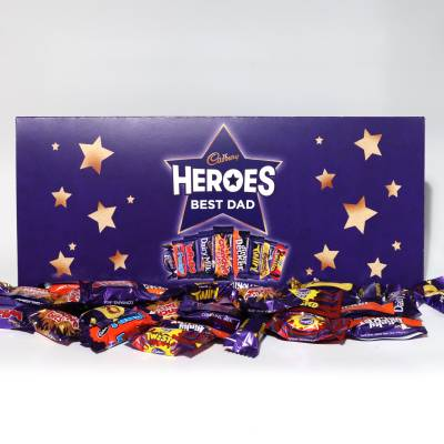 Personalised Large Cadbury Heroes Letterbox Selection 580g