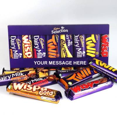 Personalised Cadbury Mixed Bars Letterbox Selection