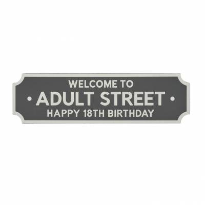 18th Birthday Street Sign