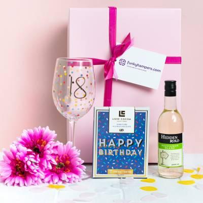 18th Birthday Wine and Chocolates Hamper