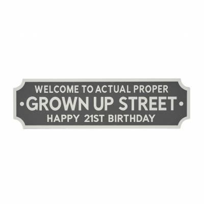 21st Birthday Street Sign