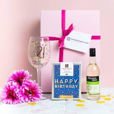 21st Birthday Wine and Chocolates Hamper