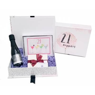 21st Birthday Prosecco Keepsakes Box