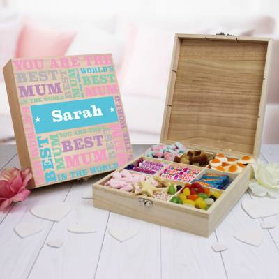 Personalised Best Mum Wooden Sweet Box