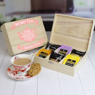 Personalised Mums Tea and Biscuits Chest