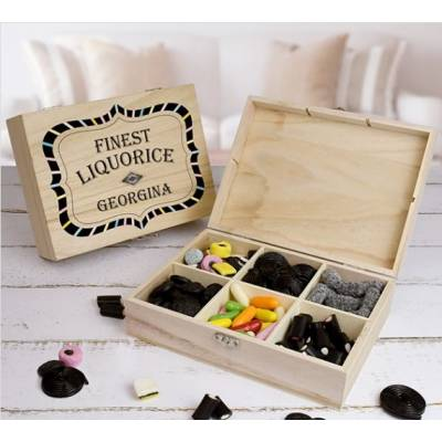 Personalised Liquorice Wooden Sweet Box