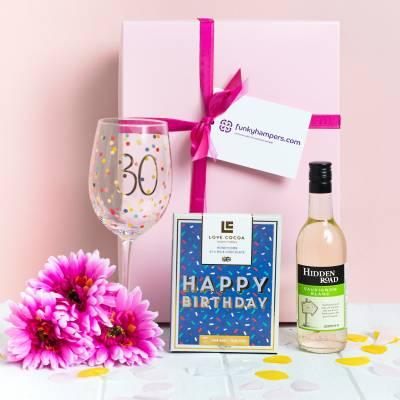 30th Birthday Wine and Chocolates Hamper