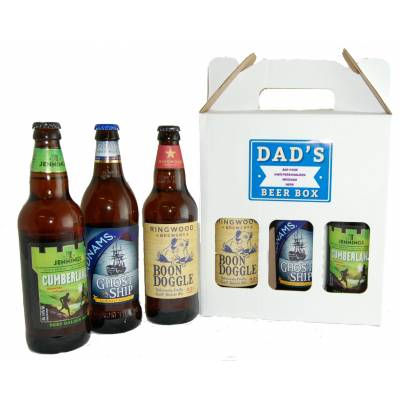 Personalised Dads Craft Beer Box