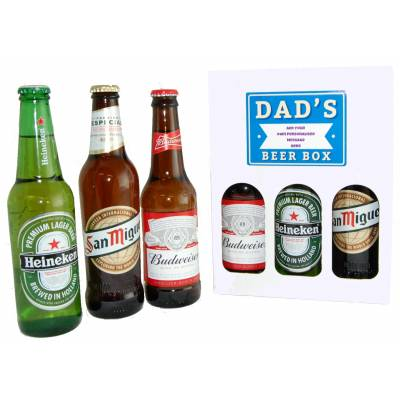 personalised dads lager box