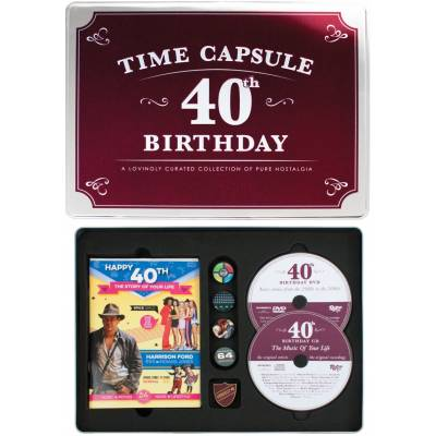 Happy 40th Birthday Time Capsule Tin