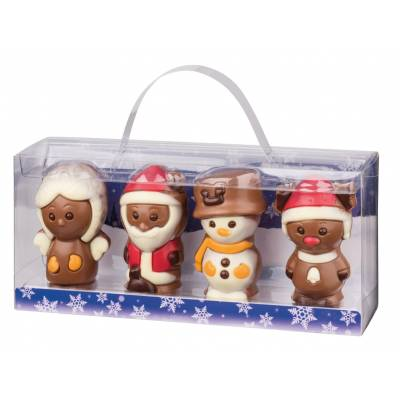 4 Christmas Chocolate Figures