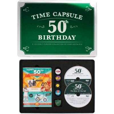 Happy 50th Birthday Time Capsule Tin