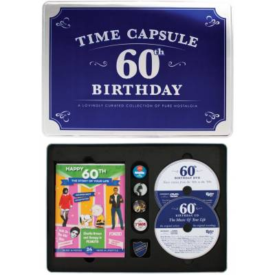 Happy 60th Birthday Time Capsule Tin