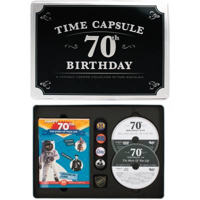 Happy 70th Birthday Time Capsule Tin