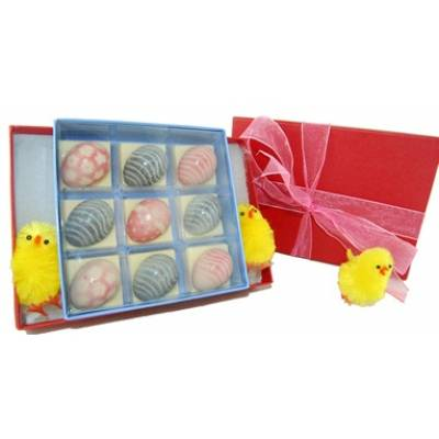 Nine Chocolate Eggs - Easter Gifts
