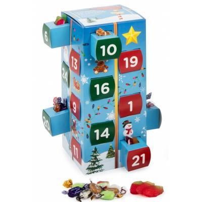retro sweets christmas advent calendar funky hampers. Black Bedroom Furniture Sets. Home Design Ideas