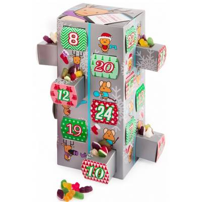 Haribo Sweets Silver Advent Calendar