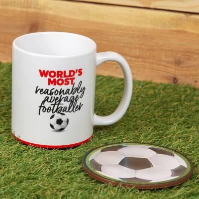 Worlds Most Average Footballer Mug Set