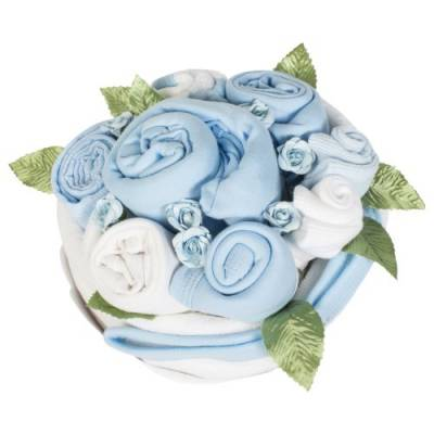 Baby Boy Blue Cupcake Bouquet - Baby Boy Gifts
