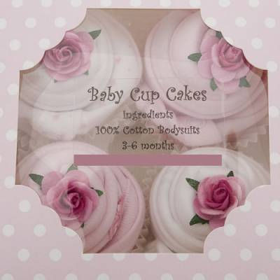 Baby Pink Cup Cakes Bodysuits