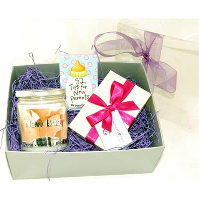 New Baby Candle Gift Set