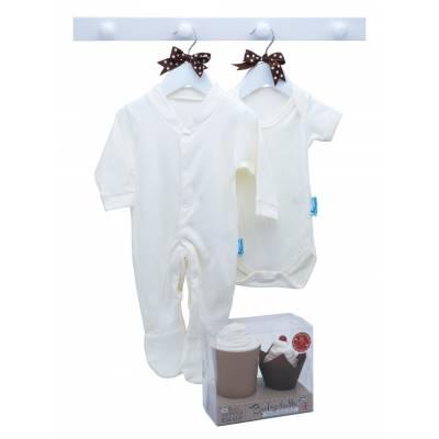 Baby Latte Sleepsuit and Bodysuit Set