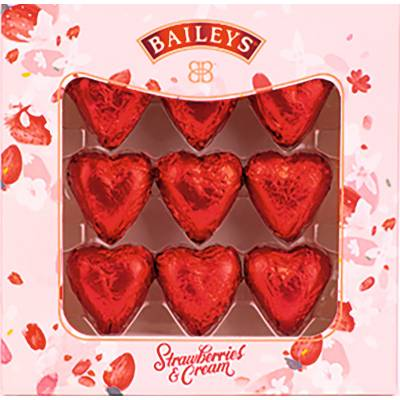 Baileys Strawberries and Cream Chocolate Hearts
