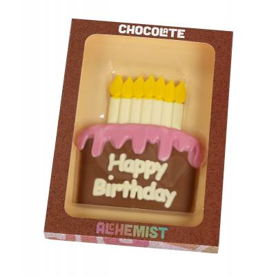 Happy Birthday Cake Chocolate Slab
