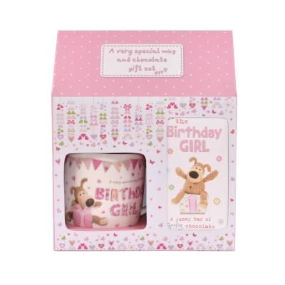 FunkyHampers Birthday Girl Mug and Chocolate Gift Set
